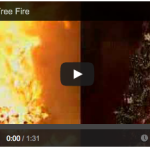 Christmas tree fire